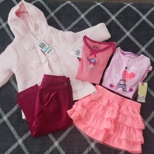 Other - 5 Piece Lot of NEW 6-9 Month Infant Girl Bundle